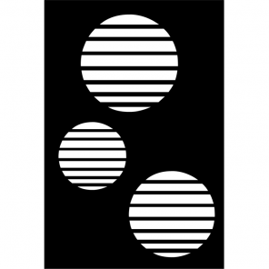 """render of Circle Vents Acoustic Wall Art 30""""W x 47""""H"""