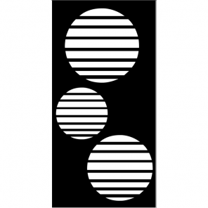 """render of Circle Vents Acoustic Wall Art 24""""W x 47""""H"""