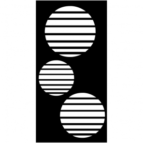 """render of Circle Vents Acoustic Wall Art 47""""W x 94""""H"""