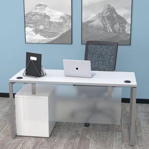 Render of Indigo Series Laminate Office Desk with Box Legs