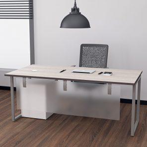 Render of Indigo Series Laminate Desk with Box Legs