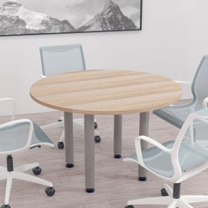 """Render of 46"""" Round Conference Table with Post Legs"""