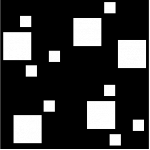 """render of Modern Squares Acoustic Wall Art 47""""W x 47""""H"""