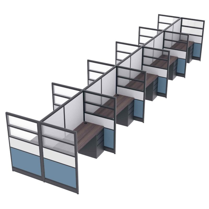 Render of 10 Person Call Center Cubicles