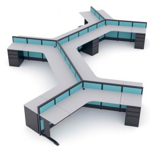 Render of Modular Office Cubicles