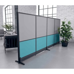 """Picture of 65""""H Freestanding Office Partition Wall"""