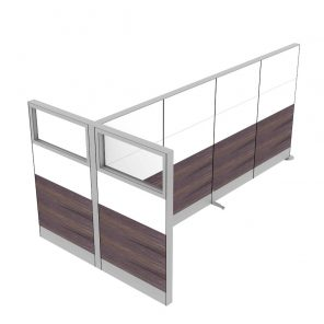 """Render of 65"""" Tall Freestanding T-Shaped Office Room Divider Partition"""