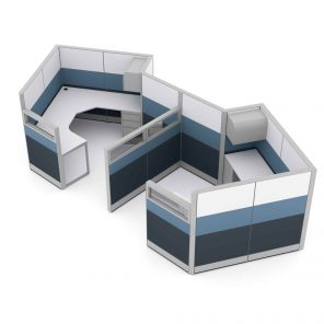 Render of Modern Office Cubicles