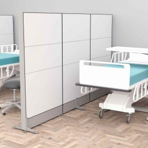 """Alternate Render of the Freestanding Office Wall Partition   65""""H   Sapphire Cubicle System"""