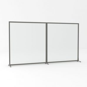 Render of Freestanding Polycarbonate Office Partition