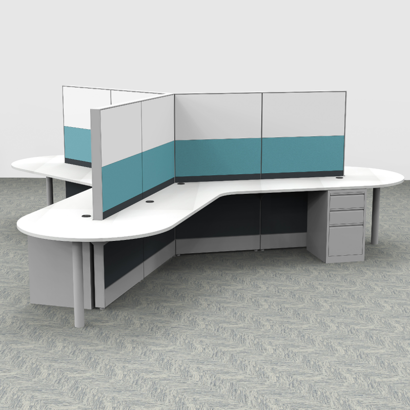 Render of 120 Degree Cubicles