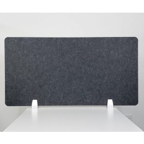 """Render of eSCAPE 18""""H Desk Top Mounted PET Privacy Screen"""