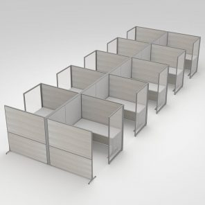 Render of 10-Person Cubicle Workstations
