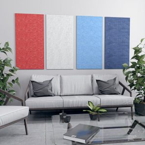 """picture of Set of 4 Wall Mounted Acoustical Panel 24""""W x 47""""H"""