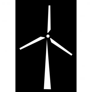 "Render of Windmill Acoustic Wall Art 30""W x 47""H"
