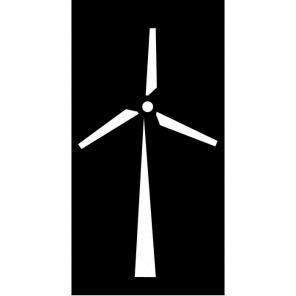 "Render of Windmill Acoustic Wall Art 24""W x 47""H"