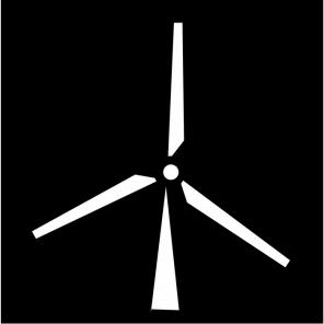 "render of Windmill Acoustic Wall Art 47""W x 47""H"