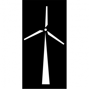 "Render of Windmill Acoustic Wall Art 47""W x 94""H"