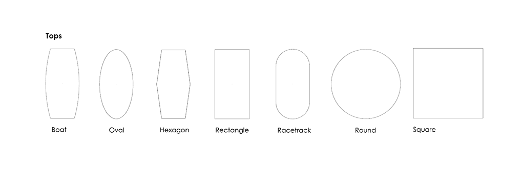Conference Table Top Shapes