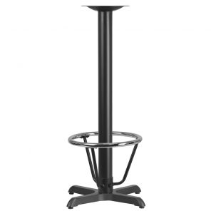 Restaurant Table X-Base with Foot Ring