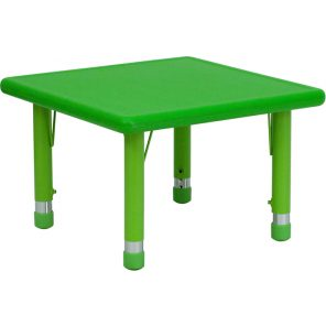 Square Plastic Height Adjustable Activity Table