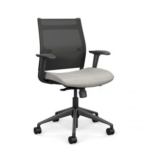 Wit Series Midback Chair with Mesh Back - Banana Fabric