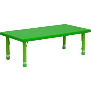 Rectangle PLastic Height Adjustable Activity Table