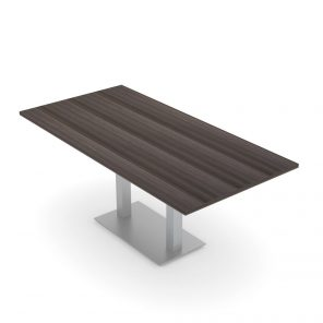Render of 6' Rectangle Conference Table with Metal Base