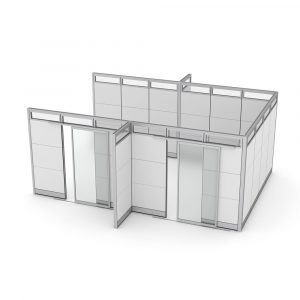 Render of Demountable Partitions