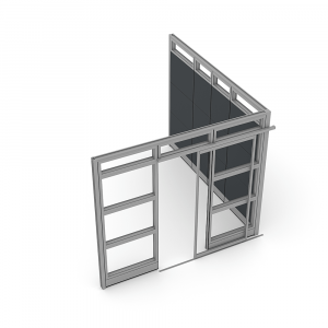 Render of Demountable Wall Systems