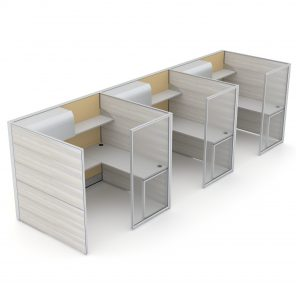 Render of 3-Person Cubicle Workstations