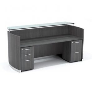 Medina Reception Station with BBF and FF Pedestal - 5 Laminates Available