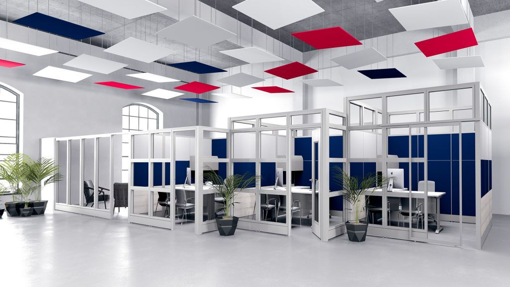 Skutchi Design Rendering | Sapphire Cubicle Systems