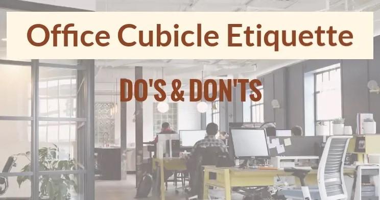 Office Cubes Etiquette | Skutchi Designs