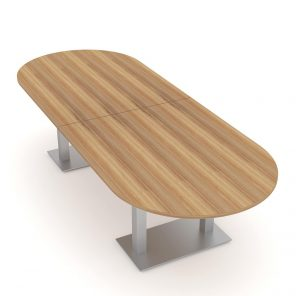 Render of 0 Person Conference Table with Metal Bases