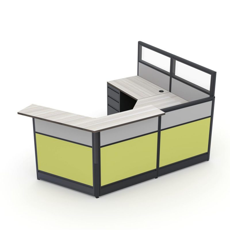 Render of Glass Top Reception Cubicle