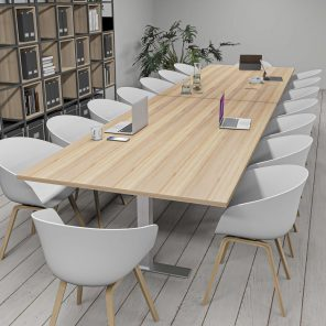 Render of 16 Person Rectangle Conference Table with T-Bases