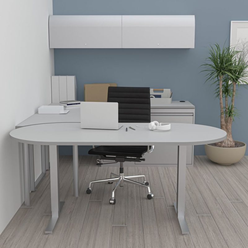 Render of Executive Office Suite with Sit to Stand Desk
