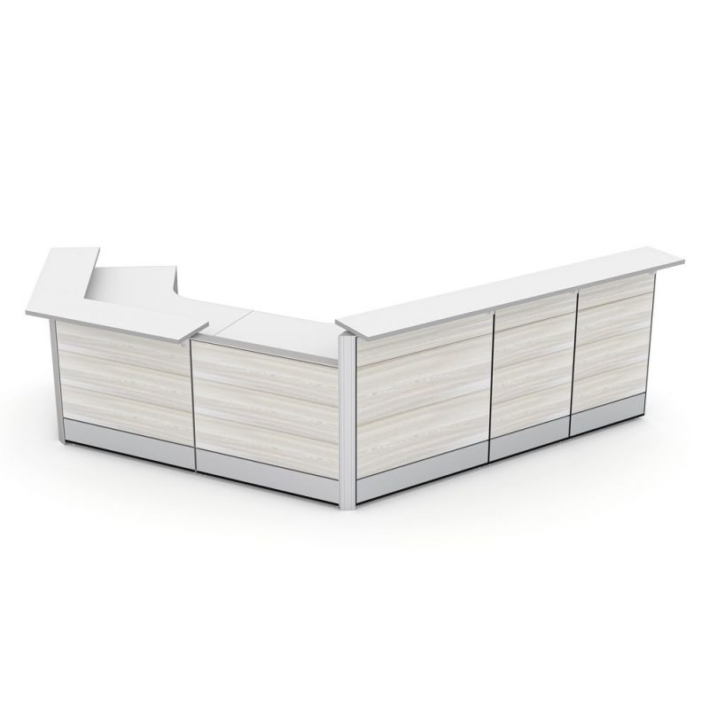 Curved Reception Desk   Sapphire Cubicle System