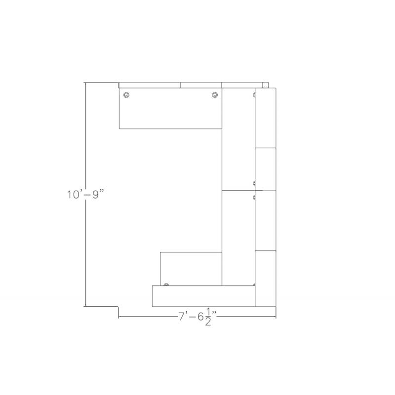 "Modern Reception Desk   Sapphire Cubicle System   7x10x65""-39""-32""H"